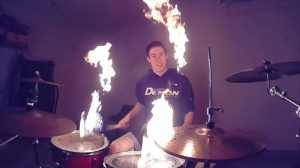 Drumming With Fire!!
